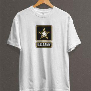 Remera Estampada Unisex US Army – Blanca
