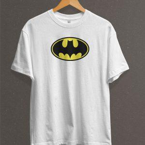 Remera Estampada Unisex Batman Logo – Blanca