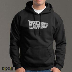 Buzo Estampado Hoodie Back To The Future Logo – Negro