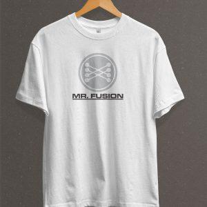 Remera Estampada Unisex Mr. Fusion – Blanca