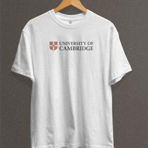 Remera Estampada Unisex University Of Cambridge – Blanca