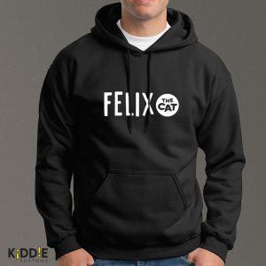 Buzo Estampado Hoodie Felix The Cat- Negro