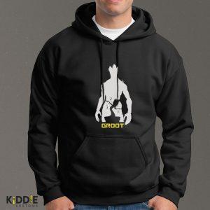 Buzo Estampado Hoodie Groot – Negro