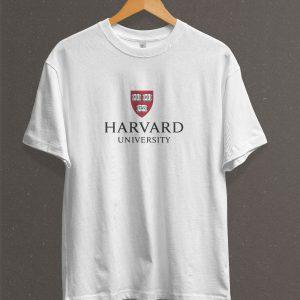 Remera Estampada Unisex Harvard – Blanca
