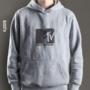 Buzo Estampado Hoodie MTV- Gris