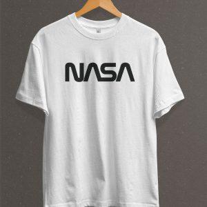 Remera Estampada Unisex NASA – Blanca