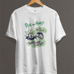 Remera Estampada Unisex Rick And Morty – Blanca