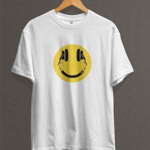 Remera Estampada Unisex Smile – Blanca