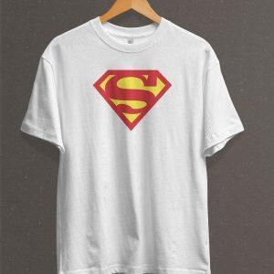 Remera Estampada Unisex Superman Logo Classic – Blanca