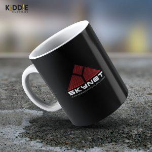Taza Mug Terminator Skynet Logo – Cerámica Importada