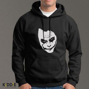 Buzo Estampado Hoodie Joker Face – Negro
