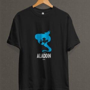 Remera Estampada Unisex Aladdin – Negra