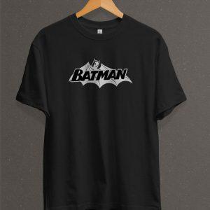 Remera Estampada Unisex Batman Logo – Negra