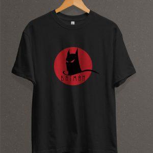 Remera Estampada Unisex Batman Face – Negra