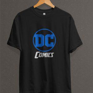 Remera Estampada Unisex DC Comics Logo – Negra