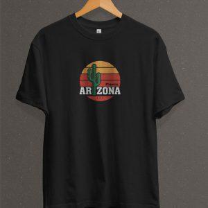 Remera Estampada Unisex Arizona – Negra