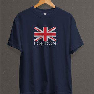 Remera Estampada Unisex London – Azul Marino