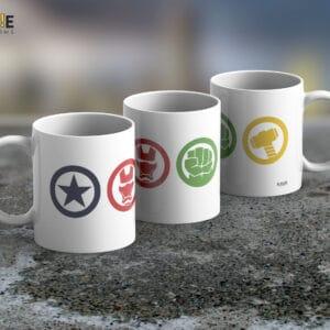 Taza Mug Marvel Icons – Cerámica Importada