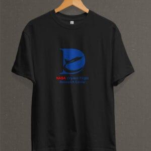 Remera Estampada Unisex NASA Dryden Flight Research Center – Negra