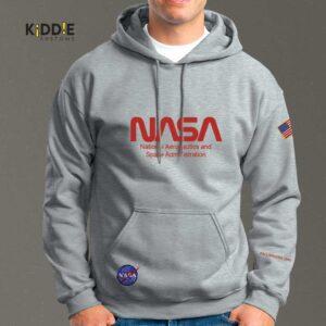 Buzo Estampado Hoodie NASA Red Special Edition II – Gris