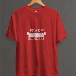 Remera Estampada Unisex Peaky Blinders – Roja