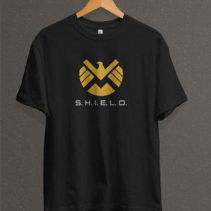 Remera Estampada Unisex S. H. I. E. L. D. Logo II – Negra