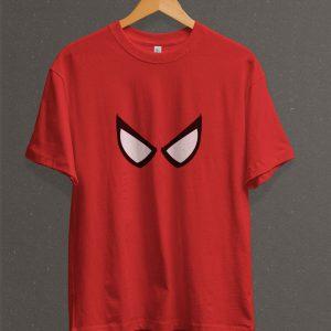 Remera Estampada Unisex Spiderman Eyes – Roja