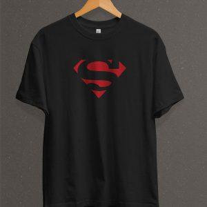 Remera Estampada Unisex Superman Logo Classic – Negra