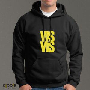 Buzo Estampado Hoodie Vis a Vis Logo – Negro