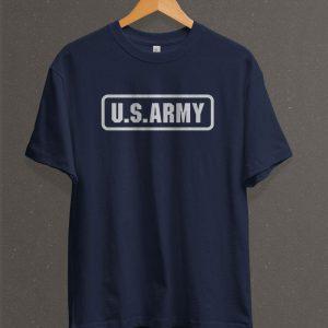 Remera Estampada Unisex US Army – Azul Marino