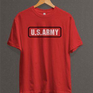 Remera Estampada Unisex US Army – Roja