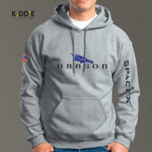 Buzo Estampado Hoodie SpaceX Dragon *Special Edition* – Gris