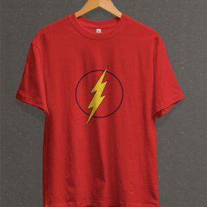 Remera Estampada Unisex Flash Logo – Roja