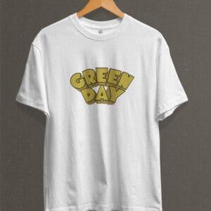 Remera Estampada Unisex Green Day Dookie – Blanca