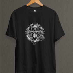 Remera Estampada Unisex Harley Davidson – Negra