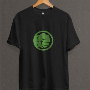 Remera Estampada Unisex Hulk Fist – Negra