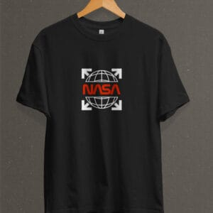 Remera Estampada Unisex NASA Red Logo II – Negra