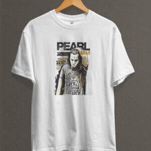 Remera Estampada Unisex Pearl Jam – Blanca