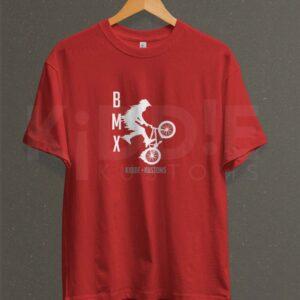 Remera Estampada Unisex BMX Kustoms – Roja