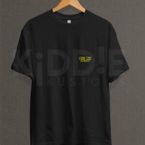 Remera Estampada Unisex Cobra Kai Back Logo – Negra