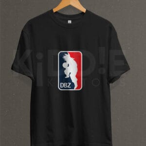 Remera Estampada Unisex Dragon Ball Z (NBA Logo) – Negra