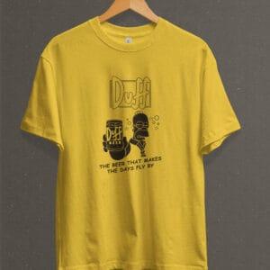 Remera Estampada Unisex Homer Duff – Amarilla