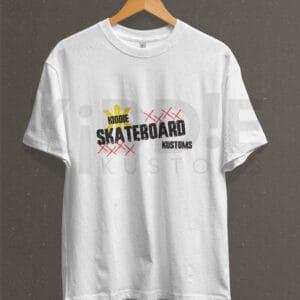 Remera Estampada Unisex Skateboard Kustoms XXXX – Blanca