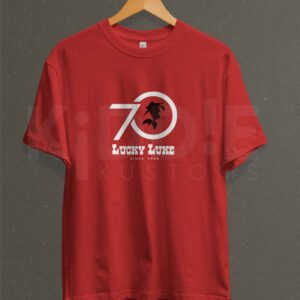 Remera Estampada Unisex Lucky Luke 70's – Roja
