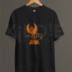 Remera Estampada Unisex Saint Seiya Phoenix – Negra