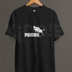 Remera Estampada Unisex Pumba – Negra