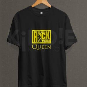 Remera Estampada Unisex Queen We Will Rock You! – Negra