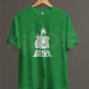 Remera Estampada Unisex Saint Seiya Dragon – Verde