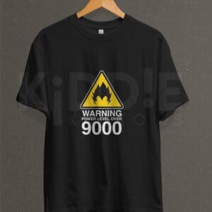 Remera Estampada Unisex Vegeta Power Lvl. 9000 – Negra