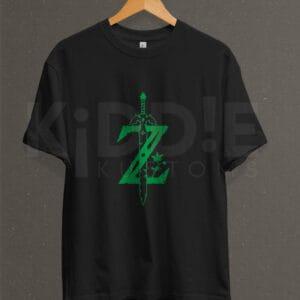 Remera Estampada Unisex Zelda – Negra